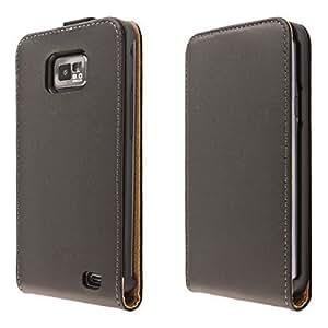 ECENCE Samsung Galaxy S2 i9100 S2 Plus i9105 Coque de protection Housse Pochette noir flip Case + protection d'écran 14040203