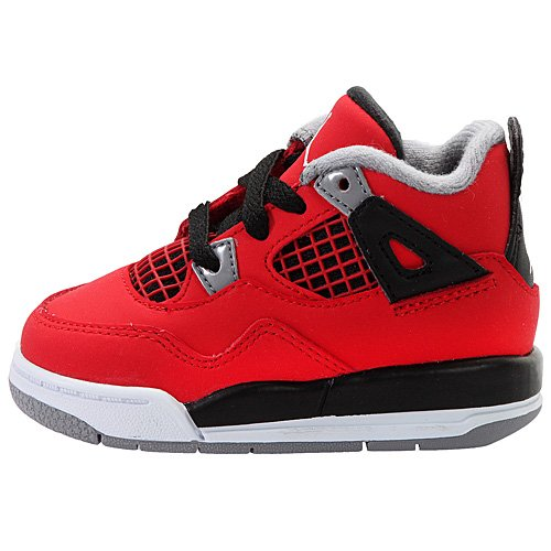 NIKE JORDAN 4 RETRO (TD) TODDLER 308500-603 (8.5, FIRE RED/WHITE-BLACK-CEMENT GREY)