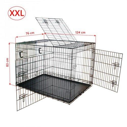 Nemaxx Transportbox Transportkäfig Drahtkäfig Klappbar Hundebox Größe XXL
