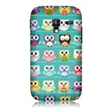 Ecell - HEAD CASE KAWAII GREEN OWL PATTERNED BACK CASE FOR SAMSUNG GALAXY ACE PLUS S7500
