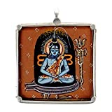 Redbag Lord Shiva - Hand Painted Pendant ( 3.18 Cm, 3.18 Cm, 1.27 Cm )