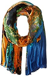 Threads 4 Thought Women's Hawksbill Turtle Photograph Scarf, Multi, One Size