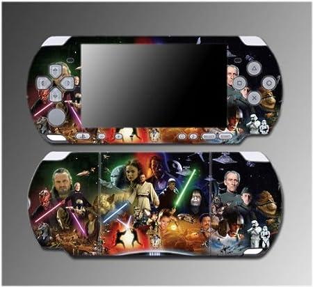 Star Wars Jedi Obi-Wan Kenobi Luke Skywalker Game Vinyl Decal Sticker Cover Skin Protector #2 for Sony PSP Slim 3000 3001 3002 3003 3004 Playstation Portable