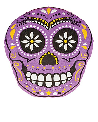 Day Of The Dead Mexican Pink Skull Pillow Halloween Decoration Accessory
