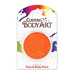 Custom Body Art LARGE 18ml Face Paint Color Single Colors 1-each (Orange) - Great for Parties, Halloween & Birthdays