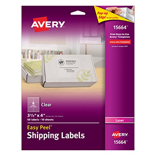 avery labels 60 per sheet