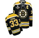 KIDS NHL Gear - Zdeno Chara #33 Boston Bruins Home Black Jersey Hockey Jerseys size S/M (Logos, Name...