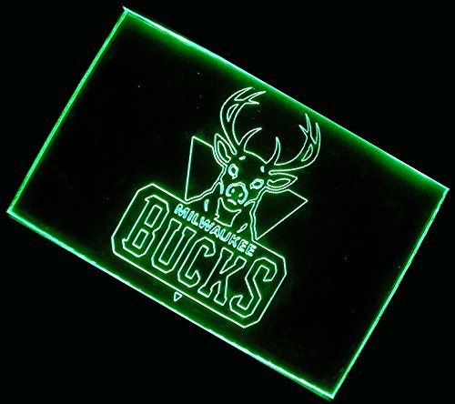 Nba Milwaukee Bucks Team Logo With (16 Kinds Of Colors Flashing Mode+Remote Control) Neon Light Sign