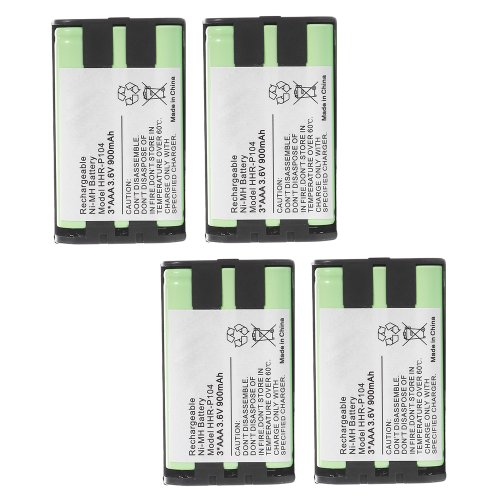 4 Pack Panasonic 850Mah Cordless Phone Battery Green front-512292