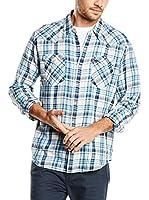 Levi's Camisa Hombre Barstow Western (Azul / Crudo)