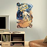 "RoomMates RMK3027TB Star Wars Retro Mega Peel and Stick Giant Wall Decals, 22.6"" x 35"""