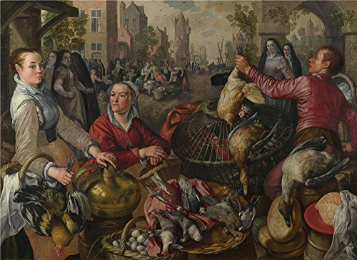 'Joachim Beuckelaer The Four Elements Air ' Oil Painting, 20 X 27 Inch / 51 X 70 Cm ,printed On Perfect Effect Canvas ,this Vivid Art Decorative Prints On Canvas Is Perfectly Suitalbe For Bedroom Gallery Art And Home Artwork And Gifts