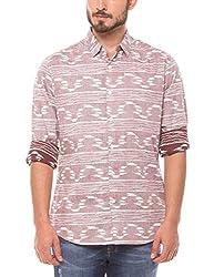 Shuffle Men's Casual Shirt (8907423018334_2021513601_Medium_Red)