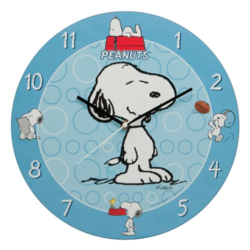 Vandor Peanuts 13-1/2-Inch Wall Clock, Multicolored