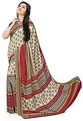 Design Willa Smooth feel Art crepe Sari (DWPC041,Multicolor)