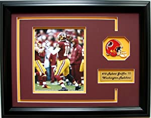 NFL Washington Redskins Robert Griffin III Framed Landscape Photo with Team Patch and... by CGI Sports Memories