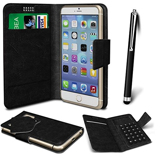 n4u-onliner-thl-t6c-newest-50-pu-leather-suction-pad-wallet-case-cover-skin-large-stylus-pen-black