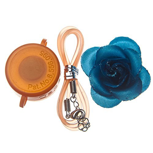 Capstyle Bottle Cap Necklace, Magnet and Jewelry for Decoration - Orange Capstyle and Blue Flower Starter Set Elegance I