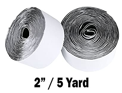 """25 Yard per roll Hook  Fastener Tape 2/"""" White Color With Adhesive"""