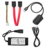 Mosuch SATA/PATA/IDE Drive to USB 2.0 Adapter Converter Cable for 2.5 / 3.5 Inch Hard Drive / 5 inch Optical Drive with External AC Power Adapter