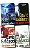David Baldacci David Baldacci Collection 4 Books Pack Set (The Whole Truth, Divine Justice, The Camel Club, The Simple Truth)