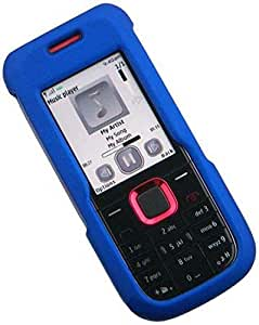 C&E Nokia 5130 XpressMusic Rubberized Phone Protector Case with Optional Belt Clip - Non-Retail Packaging - Blue
