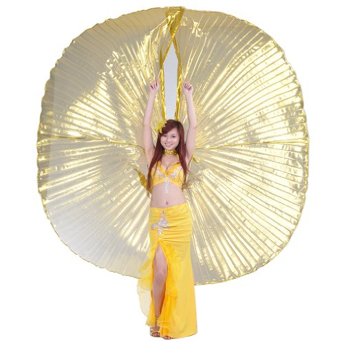 Dance Fairy 2014Golden Egypt belly dance Big Isis transparent wings for Christmas