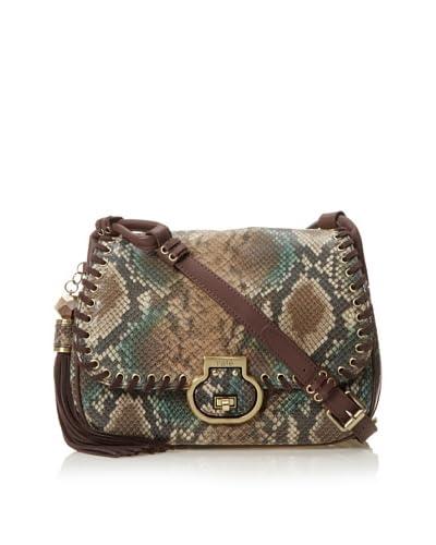 Rafé Women's Denise Medium Flap Shoulder Bag, Brown