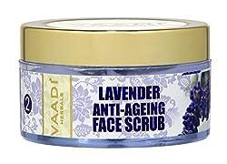 Vaadi Herbals Lavender Anti Ageing Face Scrub, 50g