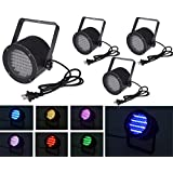 4pcs 86 RGB LED Stage Light Par DMX-512 Lighting Laser Projector Party DJ Disco