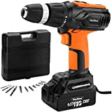 VonHaus 18V Li-Ion Fast Charge Cordless Drill/Driver complete with 13 piece accessory set + Carry Case