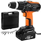 VonHaus 18V Li-Ion Fast Charge Cordless Drill/Driver Free 2 Year Warranty complete with 13 piece accessory set   Carry Case