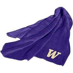 Washington Huskies NCAA Fleece Throw Blanket by Logo Chair