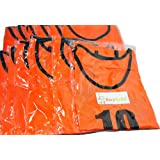 【BeryKoKo】 1~6番 1~12番 ビブス 12枚 セット サッカー フットサル ベスト ゼッケン グリーン オレンジ