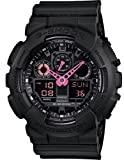 Casio #GA100C-1A4 Men's Analog Digital Alarm Chrono Black G Shock Watch