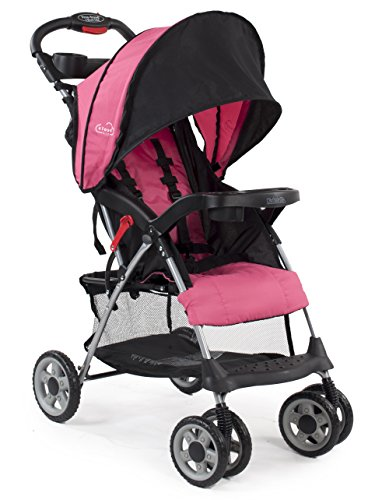 Kolcraft Cloud Plus Lightweight Stroller, Fuchsia - 1
