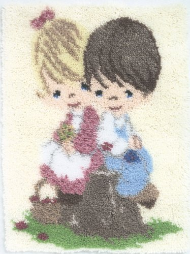 Precious Moments Latch Hook Kit 18x31-Love One Another