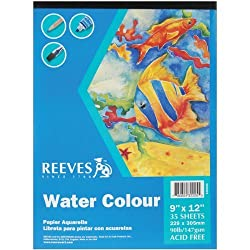 Water Colour Paper Pad 9X12