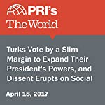 Turks Vote by a Slim Margin to Expand Their President's Powers, and Dissent Erupts on Social Media   Joyce Hackel