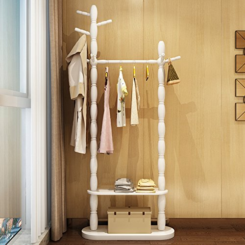 Floor home hanger bedroom solid wood racks minimalist modern living room clothing racks 0