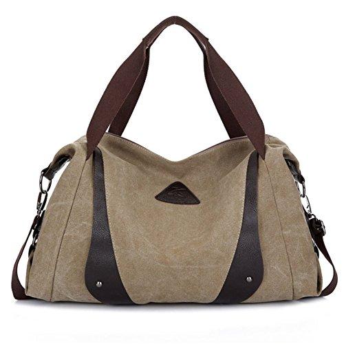 sacchetto di spalla della tela di Ms./Casual e semplice borsa Messenger Portable/Hit colore cuciture grande borsa-D