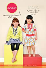 Patty Young Modkid Maya Knit Ruffled Shirt and Yoga Skirt with Dress Option Pattern