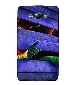 printtech Wood Strange Cartoon Back Case Cover for Samsung Galaxy Quattro i8552 / Samsung Galaxy Quattro Win i8552