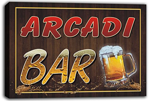 scw3-099733-arcadi-name-home-bar-pub-beer-mugs-cheers-stretched-canvas-print-sign