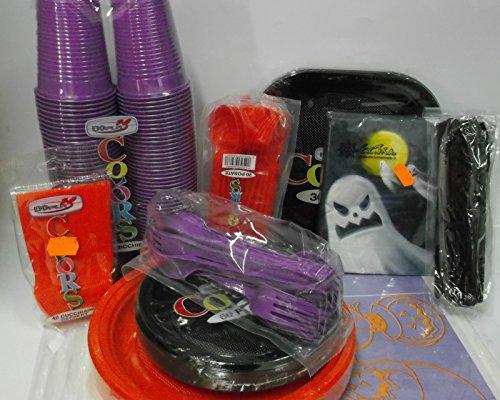 Set tavola party festa Halloween horror piatti bicchieri posate tovaglioli