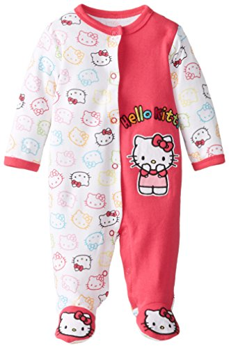 Hello Kitty Baby-Girls Newborn Rainbow Coverall