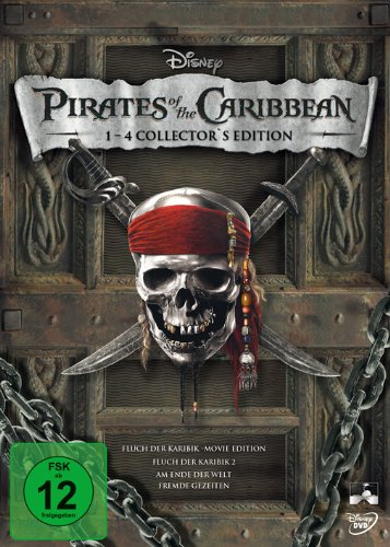 Pirates of the Caribbean - Die Piraten-Quadrologie [8 DVDs]