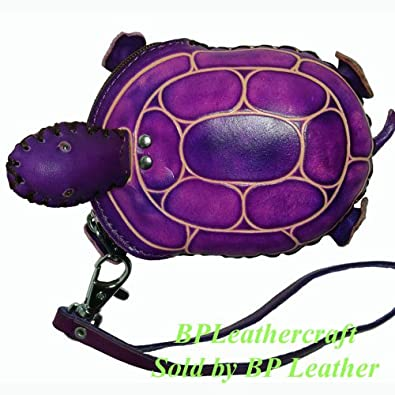 Leather Turtle Coin Purse