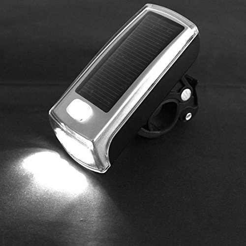 Grandiose 3 Mode Popular 4x LED Bike Light Easy to Mount Bicycle Lamp Clean Energy Solar and USB 2.0 Rechargeable