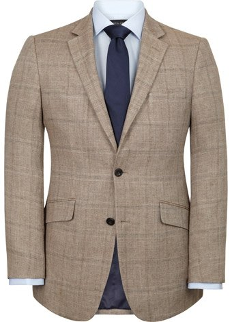 Austin Reed Brown Linen Jacket REGULAR MENS 46